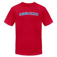 T-Shirts ~ Men's T-Shirt by American Apparel ~ ABRUZZO Region T, Red