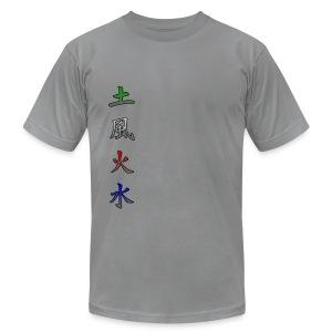 kanji elements earth wind fire water - Men's Fine Jersey T-Shirt