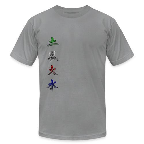 kanji elements earth wind fire water - Men's  Jersey T-Shirt