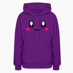 Light pink Super Cute Face Hoodies