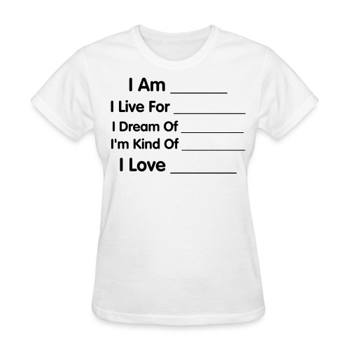 Fill In The Blanks (Ladies' Fit) - Women's T-Shirt