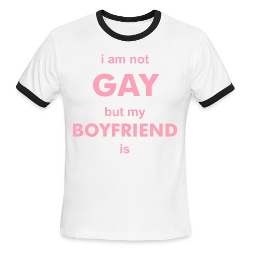 I am not Gay t-shirt - Men's Ringer T-Shirt