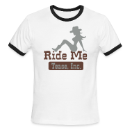T-Shirts ~ Men's Ringer T-Shirt ~ Ride Me - Cowgirl: Men's Ringer Tee
