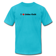 T-Shirts ~ Men's T-Shirt by American Apparel ~ I Heart John Galt