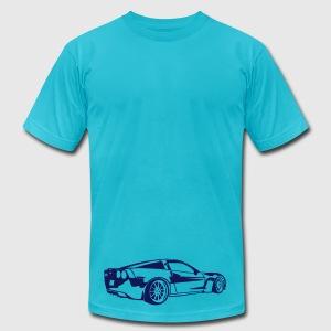 Turquoise Corvette T-Shirts - Men's T-Shirt by American Apparel