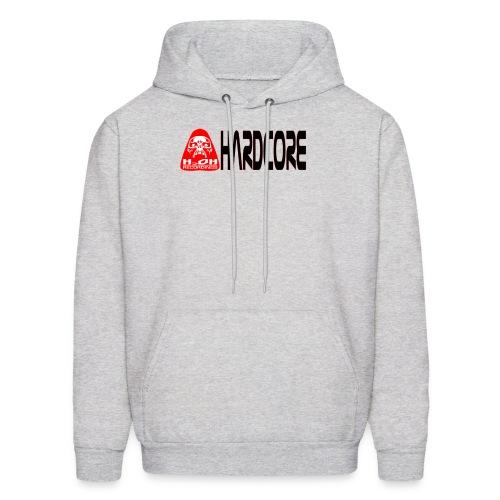 Men Hardcore Red Logo - Men's Hoodie