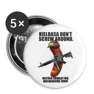 KielbasaCon 2009 Button (large) - Large Buttons