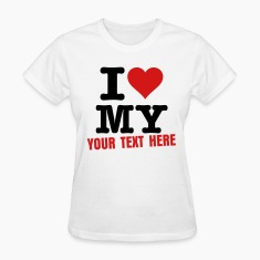 White i_love_my Women's T-Shirts