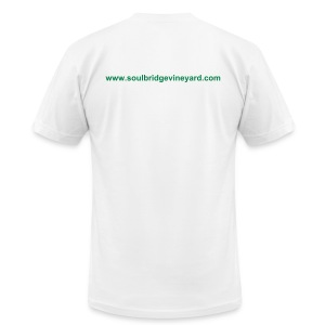 T-shirt with Soulbridge Website - Men's Fine Jersey T-Shirt