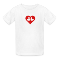 Kids' Shirts ~ Kids' T-Shirt ~ duckies of love - red on white