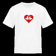 Kids' Shirts ~ Kids' T-Shirt ~ duckies of love - red on white
