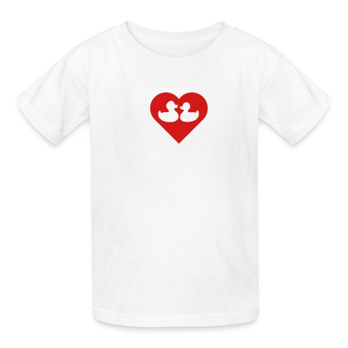 duckies of love - red on white - Kids' T-Shirt
