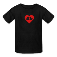 Kids' Shirts ~ Kids' T-Shirt ~ duckies of love - red on black