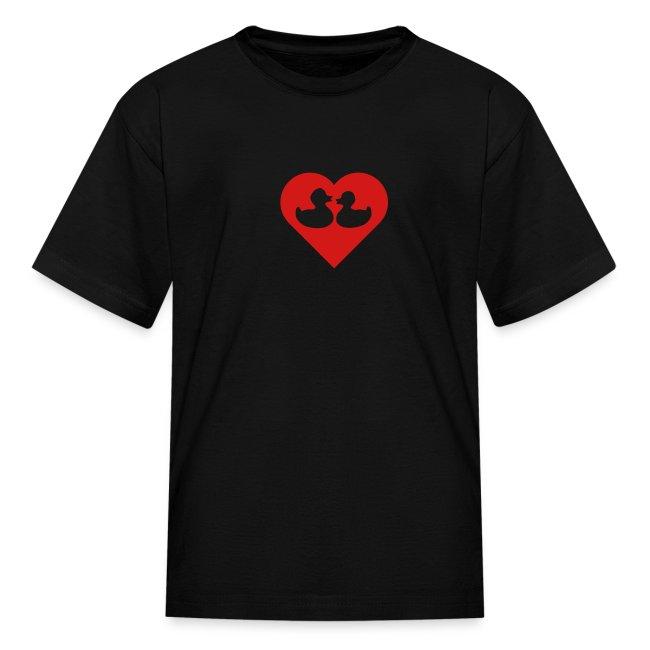 duckies of love - red on black