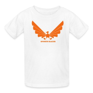 LOA - orange on white - Kids' T-Shirt