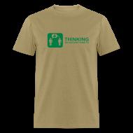 T-Shirts ~ Men's T-Shirt ~ thinking - green on khaki