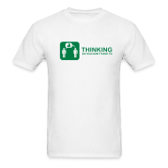 T-Shirts ~ Men's T-Shirt ~ thinking - green on white
