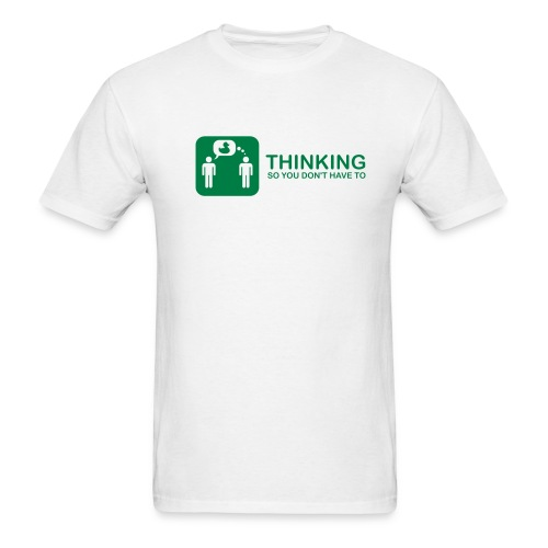 thinking - green on white - Men's T-Shirt