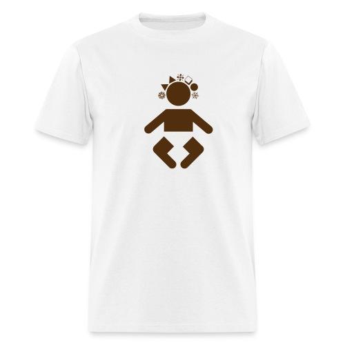 giant baby - brown on white - Men's T-Shirt
