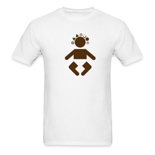 giant baby - brown on white - Men's T-Shirt