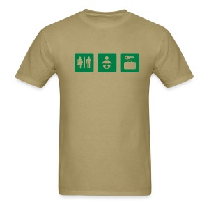 giant baby - green on khaki - Men's T-Shirt