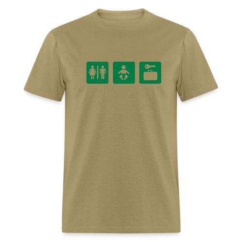 giant baby - green on khaki - Men's T-Shirt