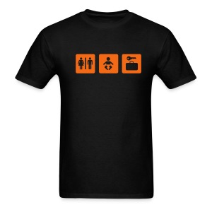 giant baby - orange on black - Men's T-Shirt