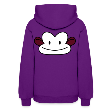 Light pink monkey cute face Hoodies