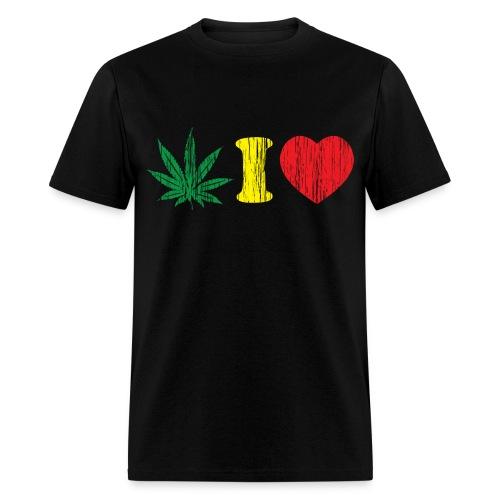 black weed tee - Men's T-Shirt