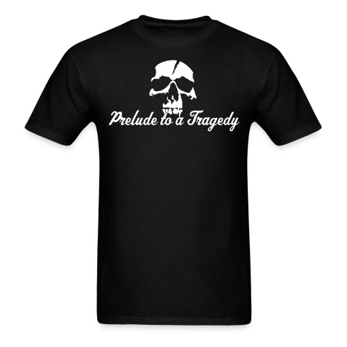 Prelude to a Tragedy Script/Skull Tee - Men's T-Shirt