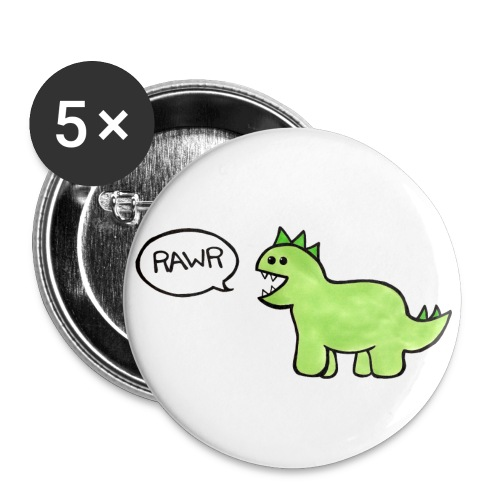 rawr button - Buttons large 2.2'' (5-pack)
