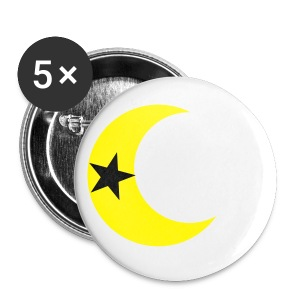 Star Inside the Moon Button - Small Buttons