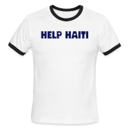 T-Shirts ~ Men's Ringer T-Shirt ~ HELP HAITI