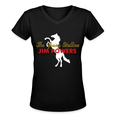 Young Stallion Women's V-Neck - Women's V-Neck T-Shirt