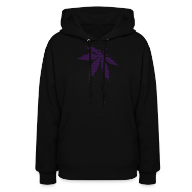 Black Cannabis/Marijuana Leaf (dots only) Hoodies