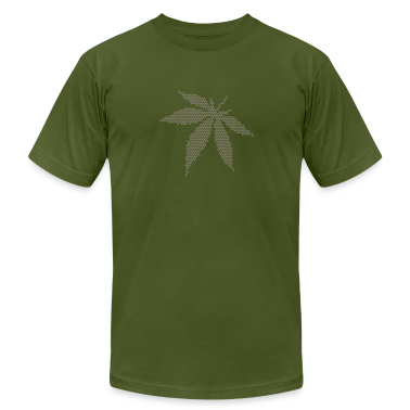 Olive Cannabis/Marijuana Leaf (dots only) T-Shirts