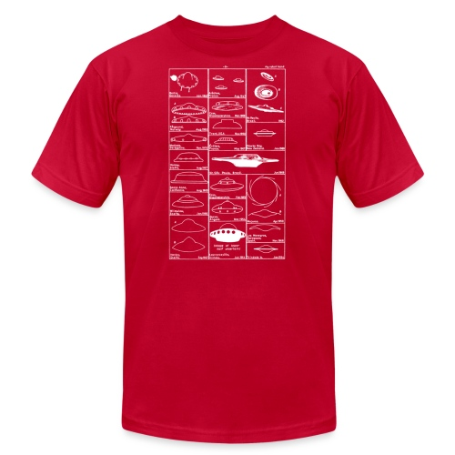Flying saucers - Men's T-Shirt by American Apparel