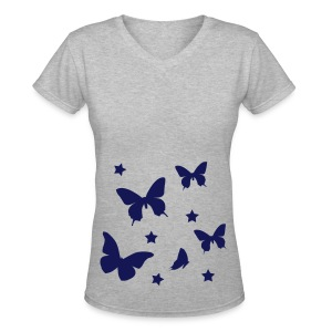 Beautifly Tee - Women's V-Neck T-Shirt