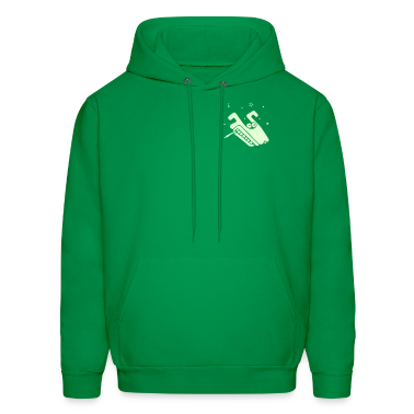 Green Psychedelic Wolf (smoking a joint) Hoodies