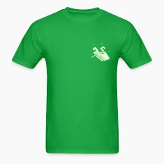 Bright green Psychedelic Wolf (smoking a joint) T-Shirts