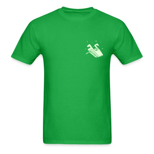 Wolf (smoking, glowing) Mens Standardweight T-Shirt - Men's T-Shirt