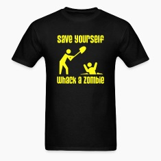 Save Yourself, Whack a Zombie - Men's T-shirt