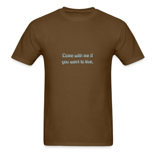 Men's Kyle Reese pick-up line blue lettering - Men's T-Shirt