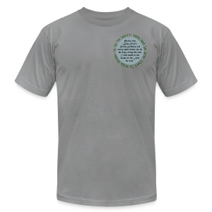 Psalm 23:6 in English and Hebrew. - Men's T-Shirt by American Apparel