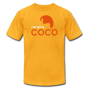 I'm With Coco!  Golden Boy Edition - Men's T-Shirt by American Apparel