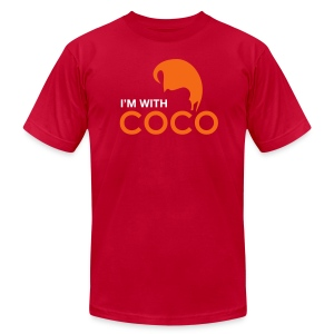 I'm With Coco  - Men's T-Shirt by American Apparel