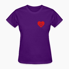 Light blue power of love v1 Women's T-Shirts