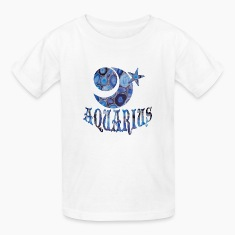 White AQUARIUS Kids' Shirts