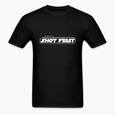 Black Han Shot First! White T-Shirts