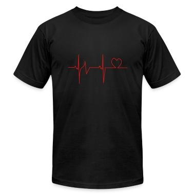Black Heartbeat T-Shirts